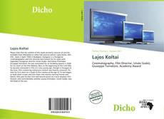 Bookcover of Lajos Koltai