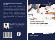 Bookcover of Les caractéristiques linguistiques de l'en-tête