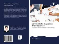Copertina di Caratteristiche linguistiche dell'intestazione