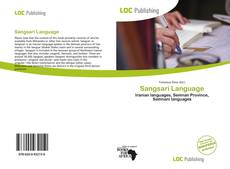 Sangsari Language kitap kapağı