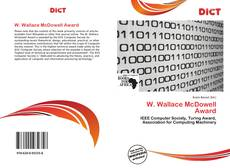 Portada del libro de W. Wallace McDowell Award