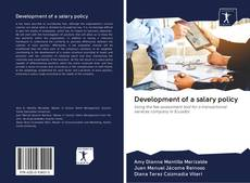 Bookcover of Development of a salary policy