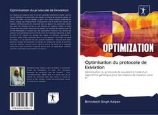 Portada del libro de Optimisation du protocole de lixiviation