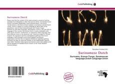 Bookcover of Surinamese Dutch