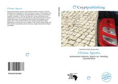 Bookcover of Ultima Sports