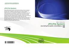 Portada del libro de JFS (File System)