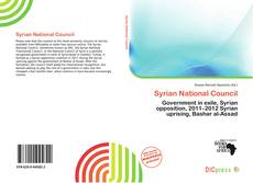 Portada del libro de Syrian National Council