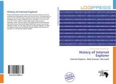 Portada del libro de History of Internet Explorer