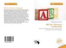 Portada del libro de Welsh-Romani Language