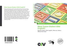 Buchcover von West Saxon Dialect (Old English)