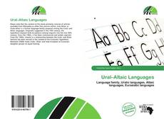 Bookcover of Ural–Altaic Languages