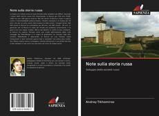 Capa do livro de Note sulla storia russa