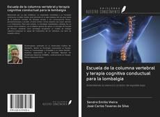 Portada del libro de Escuela de la columna vertebral y terapia cognitiva conductual para la lombalgia