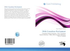 Capa do livro de 28th Canadian Parliament