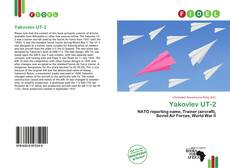 Bookcover of Yakovlev UT-2