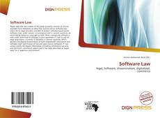 Portada del libro de Software Law