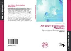 Ant Colony Optimization Algorithms kitap kapağı