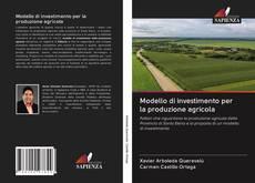 Capa do livro de Modello di investimento per la produzione agricola