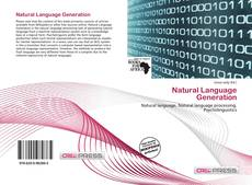 Capa do livro de Natural Language Generation