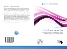 Bookcover of Federal Arbitration Act