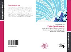Обложка Zeta Geminorum