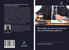 Bookcover of De rechter en het huurcontract voor professioneel gebruik
