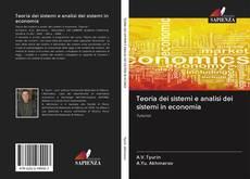 Capa do livro de Teoria dei sistemi e analisi dei sistemi in economia