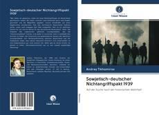 Portada del libro de Sowjetisch-deutscher Nichtangriffspakt 1939