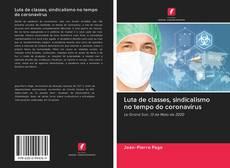 Portada del libro de Luta de classes, sindicalismo no tempo do coronavírus