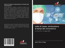 Capa do livro de Lotta di classe, sindacalismo ai tempi del coronavirus