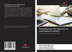 Couverture de Procedure for the selection of international markets