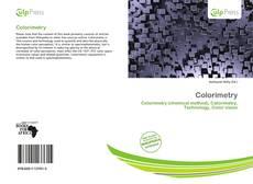 Capa do livro de Colorimetry