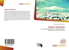 Bookcover of Huber's Equation