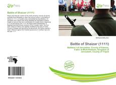Battle of Shaizar (1111)的封面