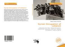 Capa do livro de Syrian Occupation of Lebanon