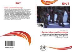 Borítókép a  Syria–Lebanon Campaign - hoz