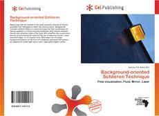 Portada del libro de Background-oriented Schlieren Technique