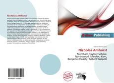 Capa do livro de Nicholas Amhurst