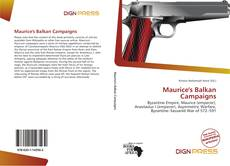 Portada del libro de Maurice's Balkan Campaigns