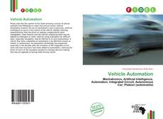 Bookcover of Vehicle Automation