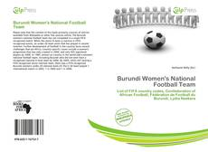 Bookcover of Burundi Women's National Football Team