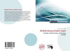 Capa do livro de British Army Cricket Team