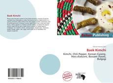 Capa do livro de Baek Kimchi