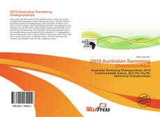 Bookcover of 2010 Australian Swimming Championships