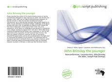 John Brinsley the younger kitap kapağı
