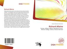 Bookcover of Richard Alleine