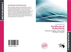 Bookcover of Certificate of Authenticity