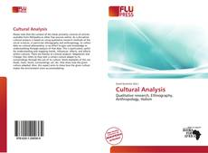 Bookcover of Cultural Analysis