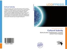 Copertina di Cultural Subsidy