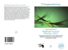 Bookcover of Highland Council Election, 2012